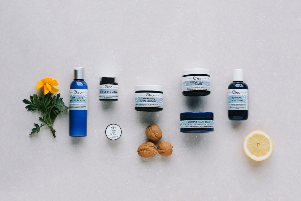 product photography oleo bodycare bridport dorset